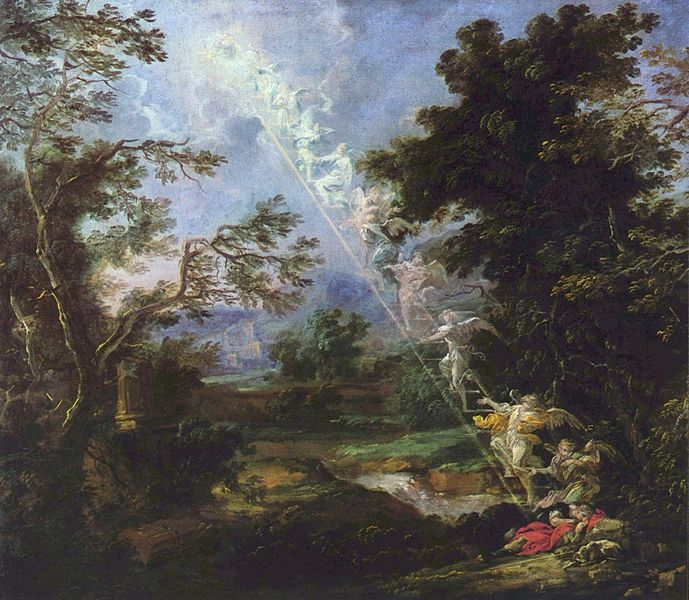 """Landscape with the Dream of Jacob"" by Michael Williamann (1630-1706)"