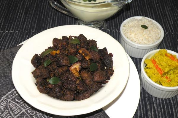 Beef Fry / Kerala Style Beef Ularthiyathu