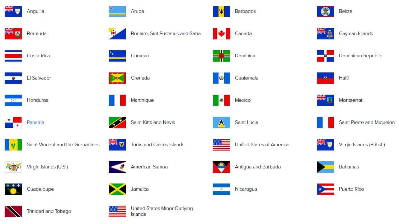 paises sucarrord