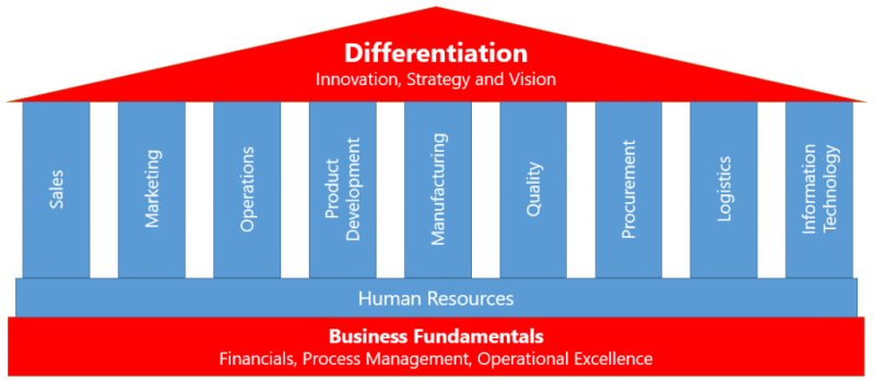 Scaling to differentiation on a strong organizational foundation