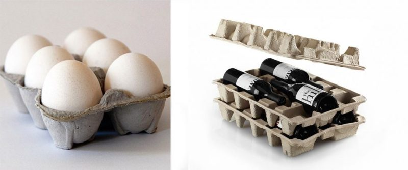 Egg Carton Inspired Wine Shippers