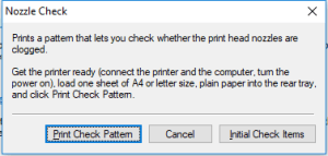 Print check pattern