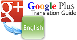 Image of Google Plus translation