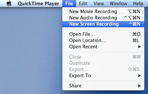 Image of Quicktime screen recording