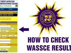 How to check WASSCE Results
