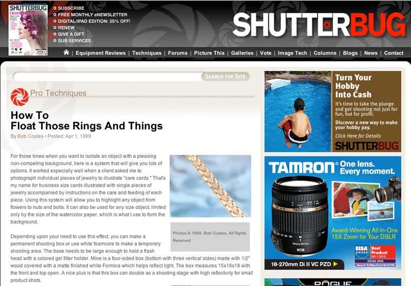 shutterbug magazine artice