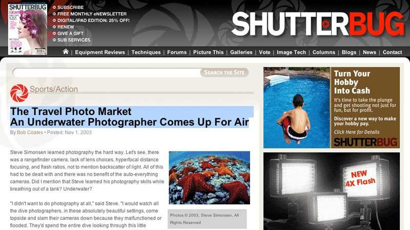 shutterbug magazine article