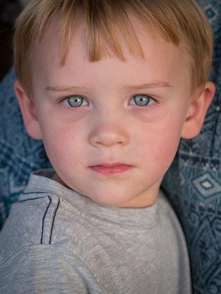 Childs blue eyes photo