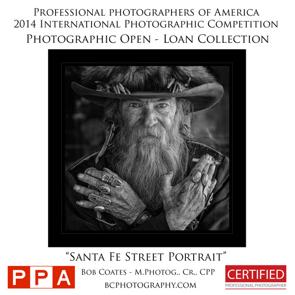 santa fe street portrait photo