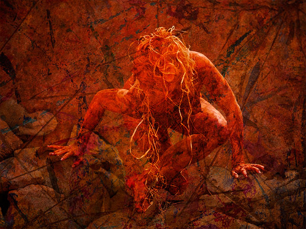 pash galbavy art from butoh pose