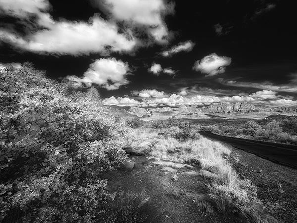 IR image sedona arizona