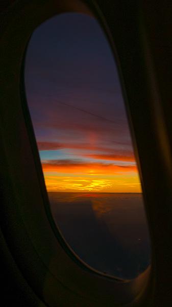 sunset window view