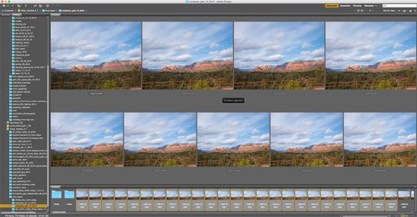 Adobe bridge screen capture