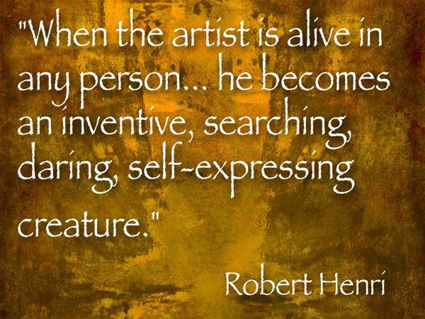 robert henri art quote