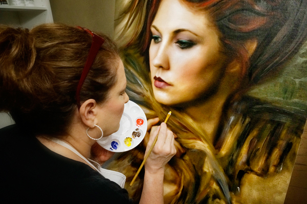 beverly walden painting finishing touches