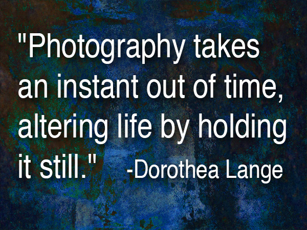 dorthea lang quote about photography
