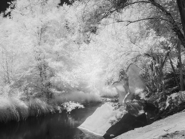 slow exposure infrared photo