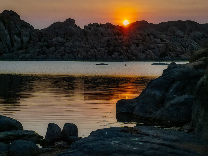 sunrise photo watson lake prescott arizona