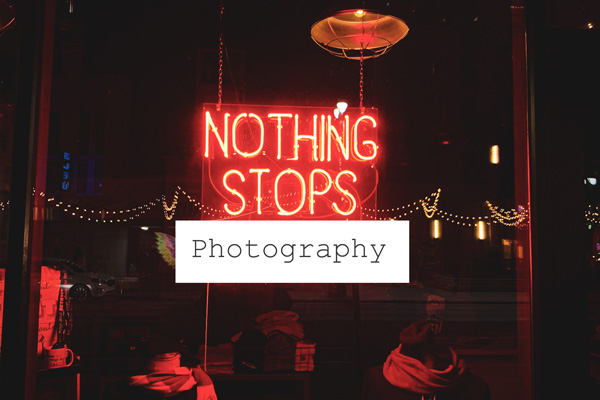 nothing stop photography graphic