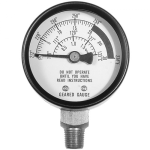 All American pressure cooker steam guage.