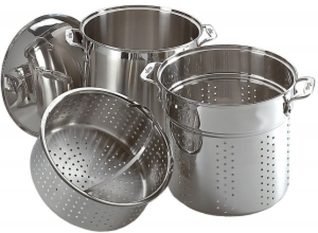 Fagor Tall 18/10 Stainless Steel Pasta Basket