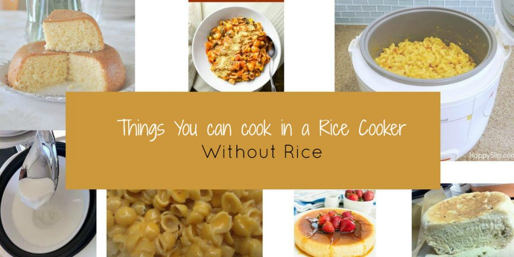 things you can cook in a rice cooker