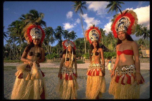01 Feb 1990, Bora-Bora, French Polynesia --- POLYNESIA: ILLUSTRATION --- Image by © GIRAUD PHILIPPE/CORBIS SYGMA