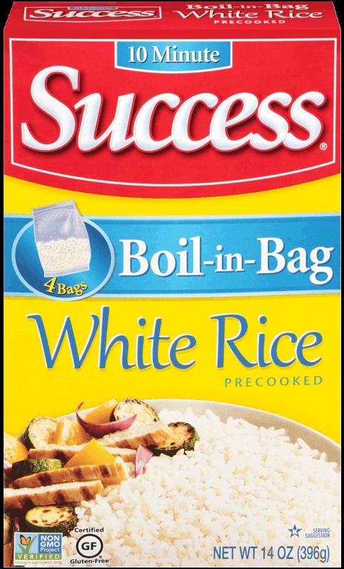boil in bag white rice success rice