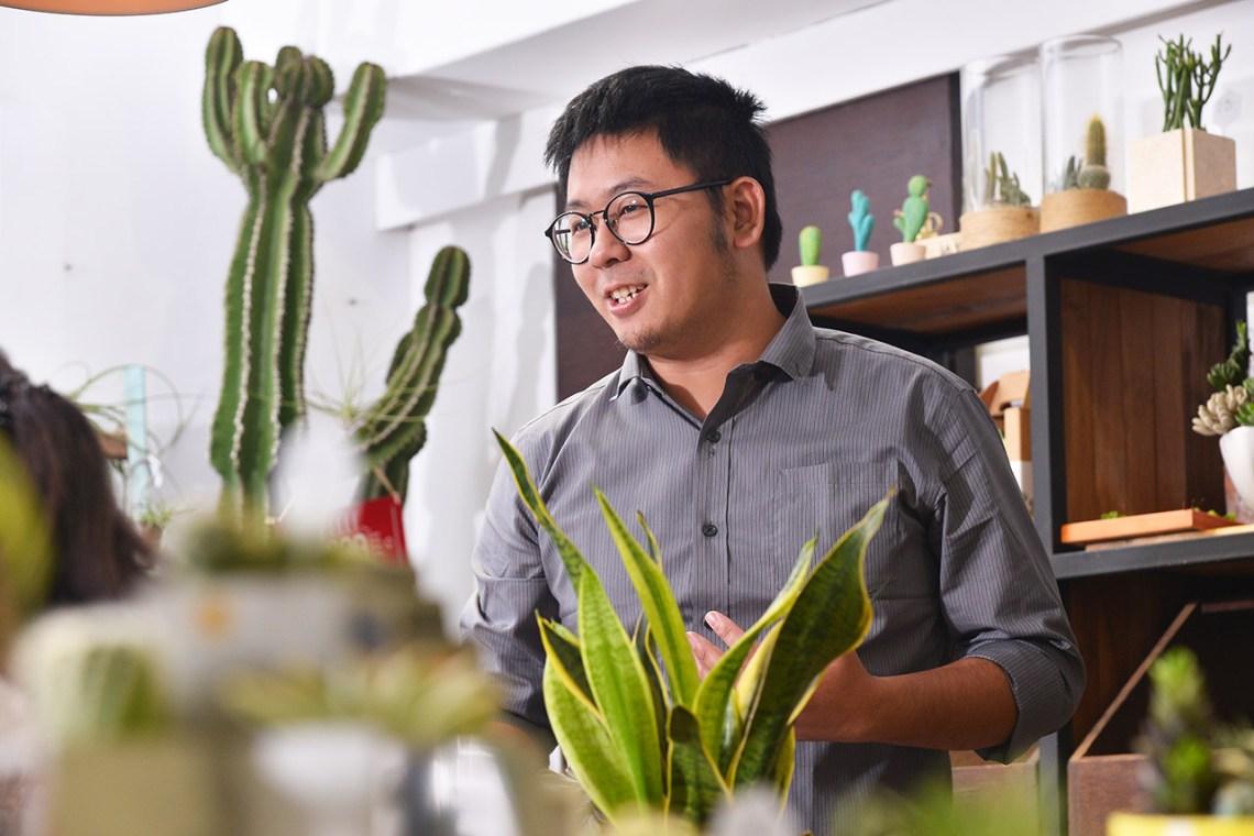 多肉植物養護課老師:Jerry老師,經驗豐富的多肉植物專家