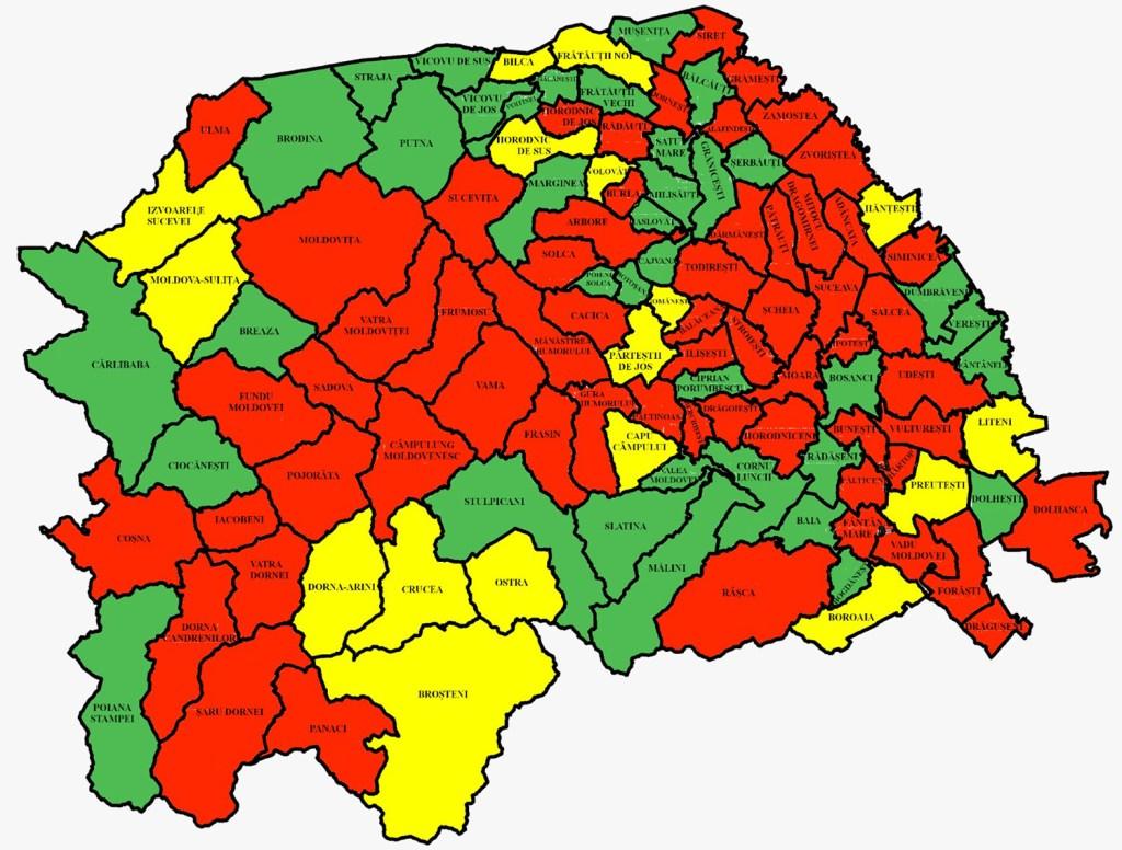 În județul Suceava sunt 3.190 cazuri de infecție Covid-19 în evoluție