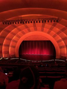 The view from the last row of Radio City Music Hall in NYC