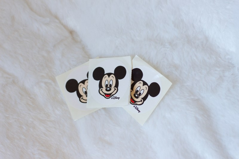 Mickey stickers at Walt Disney World.