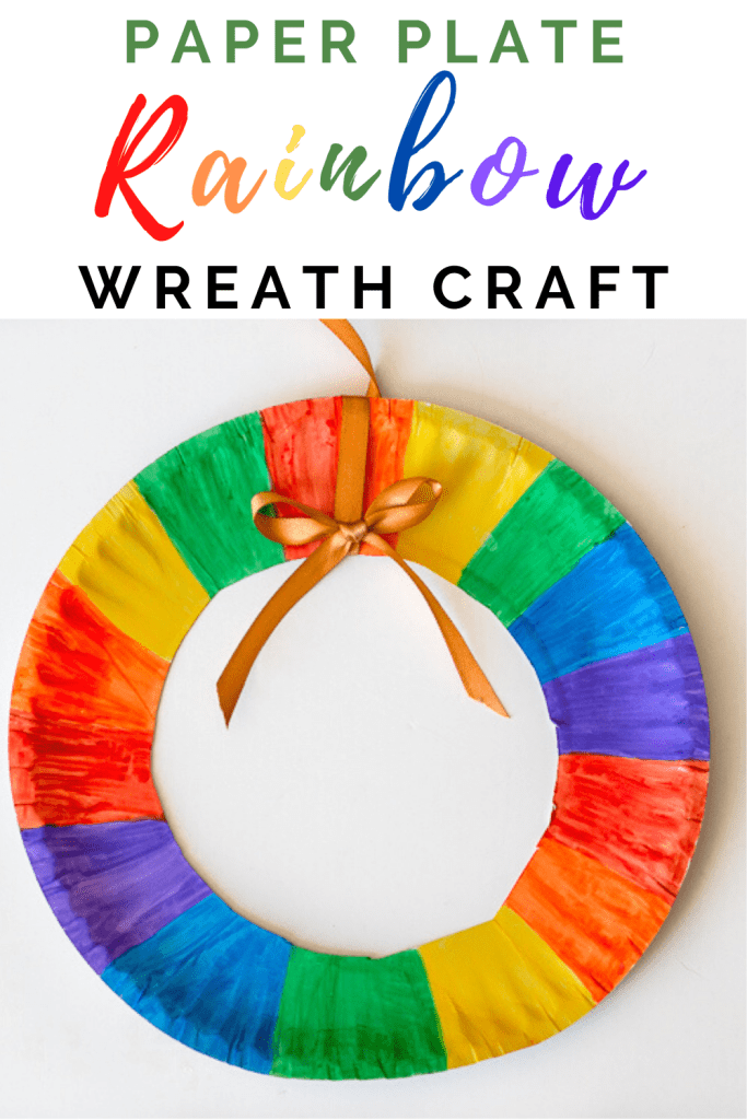 St Patrick's Day Rainbow Wreath Craft