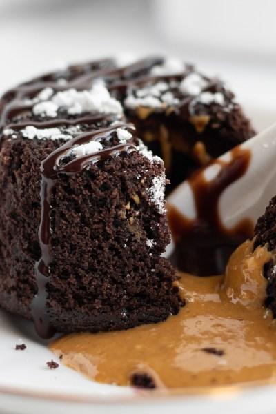 Chocolate peanut butter lava cake.