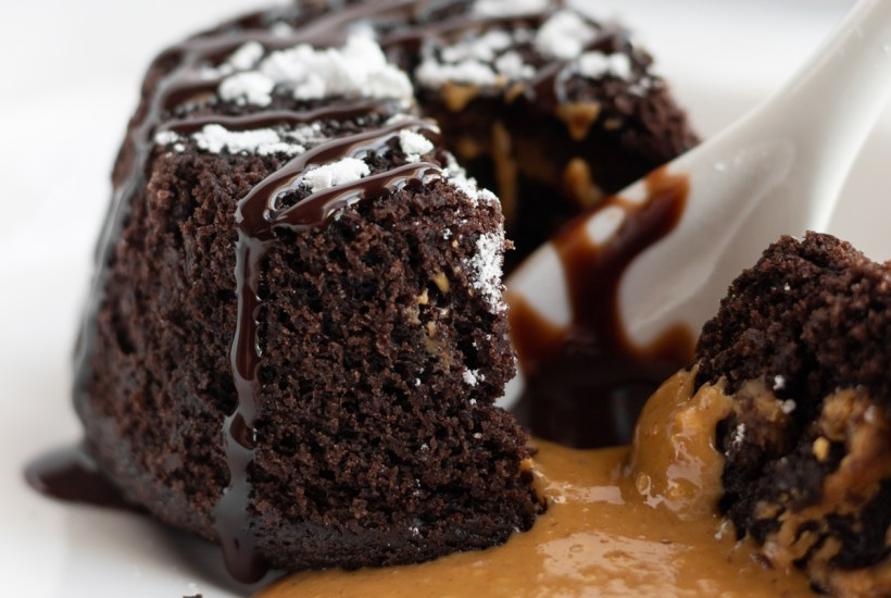 Chocolate peanut butter lava cake.