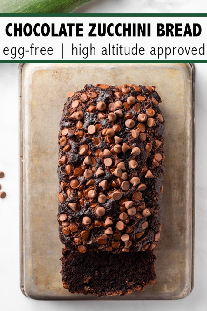 Chocolate Zucchini Bread Pinterest Pin.