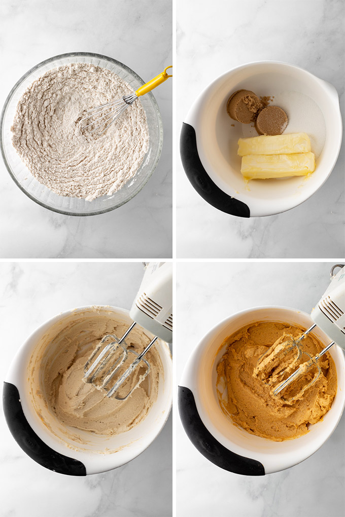Process of mixing the ingredients.