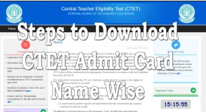 download cbse ctet admit card name wise download from ctet.nic.in