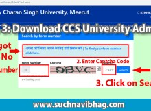 CCS University Admit Card 2021 Name Wise Regular & Private ccsuweb.in