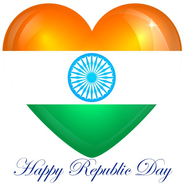 Happy Republic Day 2021 Heart image for whatsapp and facebook status.