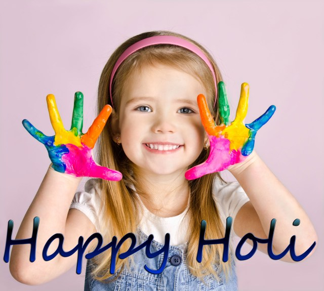 Happy Holi images 2021 kor kids download with wishes.