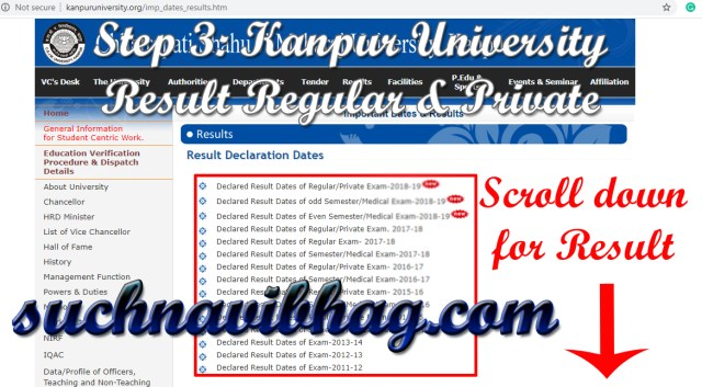 Step 3 - Kanpur University Result 2021 Ba, Bsc, Bcom, Ma, Msc, Mcom CSJM Regular & Private. Result dates also available.