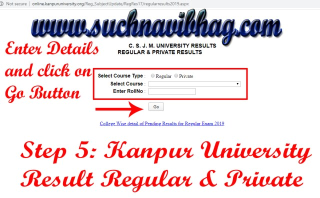 Step 5 - Kanpur University Result 2020-21 Ba, Bsc, Bcom, Ma, Msc, Mcom CSJM Regular & Private. Result dates also available.