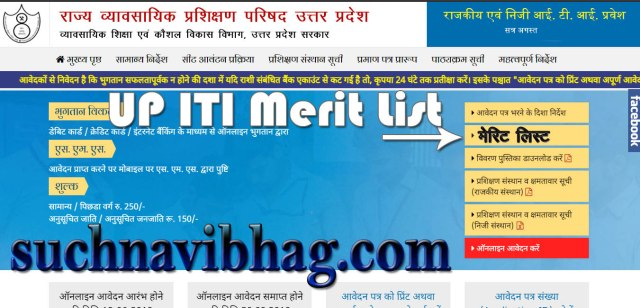 UP ITI Merit List 2021 First Round, Second Round, Third Round, Fourth Round