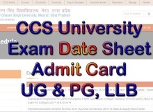 CCS University Exam Date Sheet 2021 Ba, Bsc, Bcom, Ma, Msc, Mcom, LLB