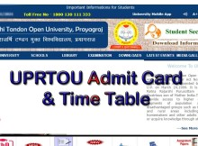 UPRTOU Admit Card 2021 - December 2020 & Time Table uprtou.ac.in