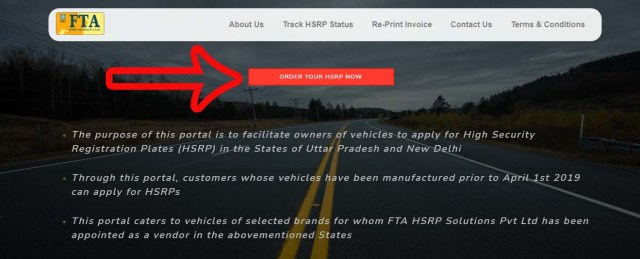 Step 4 UP High Security Number Plate Online Apply, Price, Last Date, Track Status