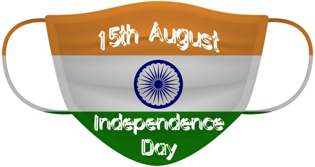 Happy Independence Day 2021 Mask image download 15th August