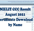nielit ccc result august 2021 with certificate download by name