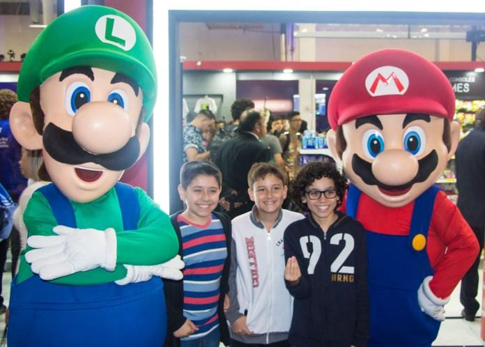 Nintendo Luigi Mario brasil game show 2018
